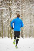 Winter jogging — Stock Photo