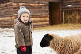 Boy on the farm — Stock Photo