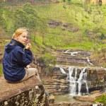 Resting near waterfall — Stock Photo #44639645