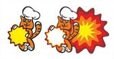 Cat chef — Stock Vector