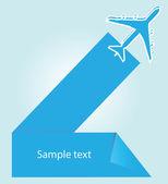 Banner con aerei blu — Vettoriale Stock