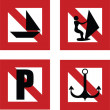Постер, плакат: Navigation rules prohibiting signs
