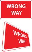 Cartello stradale senso errato — Vettoriale Stock