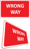 Fel sätt trafik skylt — Stockvektor