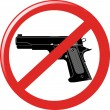 No gun sign — Stock Vector #35441229