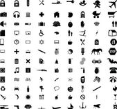 Over a hundred different icons and signs — Stock Vector