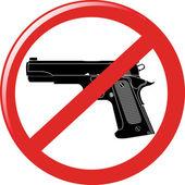 Nenhum sinal de arma — Vetor de Stock