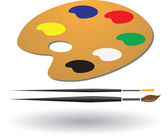 Painting tools and colors vector illustration — Stock Vector
