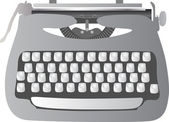 Printmechanical 打字机 — 图库矢量图片