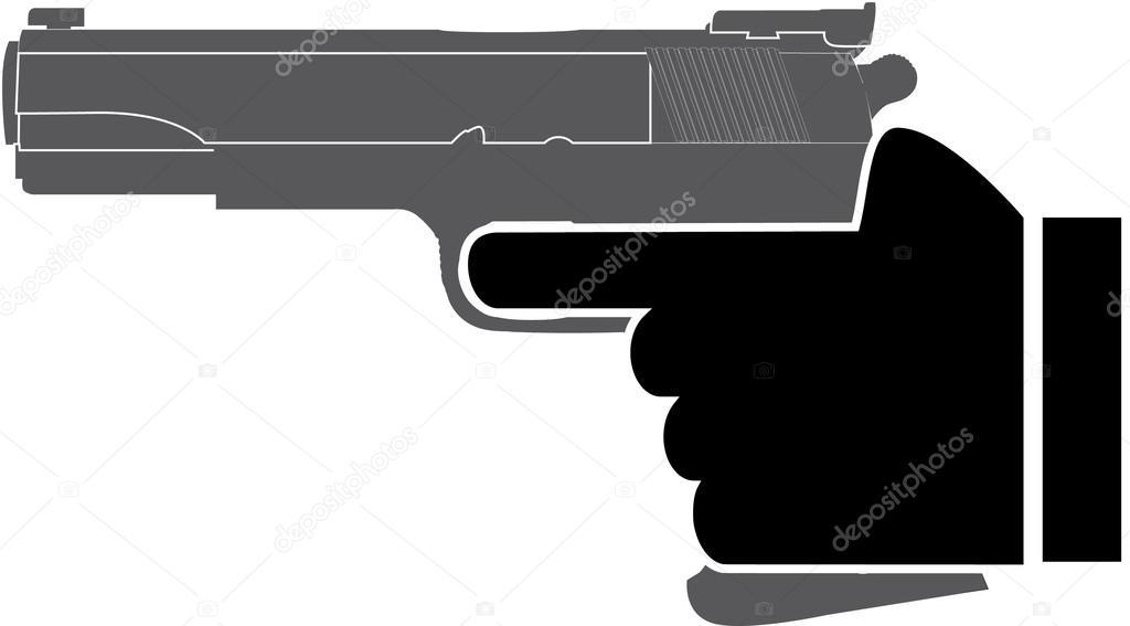 拿枪的手 — 图库矢量图像08