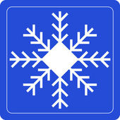 Snowflake sign on blue background — Stock Vector