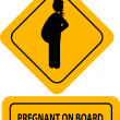 Stock Vector: Pregnant on board label