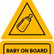 Stock Vector: PrintVector yellow baby on board