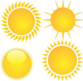 Isolated sun icons collection vector — Stock Vector