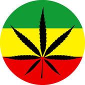 Rasta colors marijuana — Stock Vector