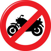 Motorcycle prohibition sign — Stockvektor
