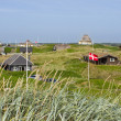 Stock Photo: Summer houses at the North Sea