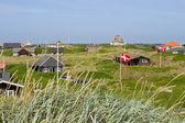 Casas de veraneo en el mar del norte — Foto de Stock