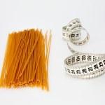Spaghetti and Measuring Tape — Stock Photo #38362497