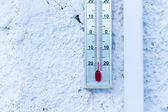 Thermometer Showing Minus 20 Celcius — Stock Photo
