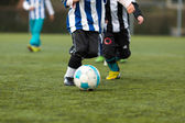 Two young soccer players — Stock Photo