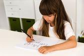 Dívka psaní abc abeceda — Stock fotografie