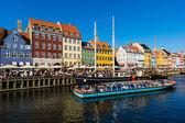 Nyhavn canal in Copenhagen — Stockfoto