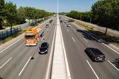 Kopenhag karayolu trafik — Stok fotoğraf