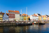 Nyhavn district in Copenhagen — 图库照片