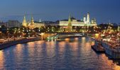 Moscow Kremlin in the evening — Stock Photo