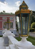 Lantern on the stairs in the palace Sheremetev Kuskovo — Stock Photo