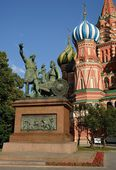 Monument to citizen Minin and the prince Pozharsky — Stock Photo
