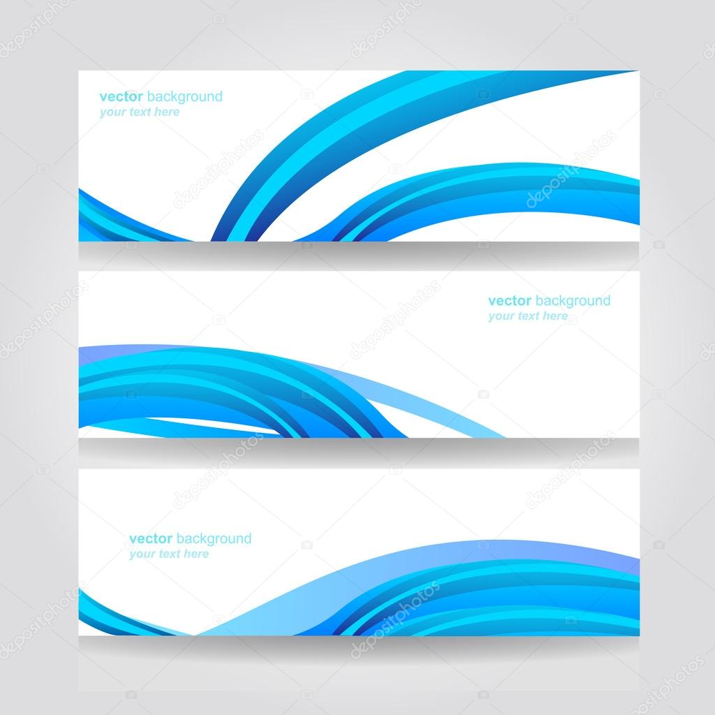Abstract header blue wave vector design stock mixov