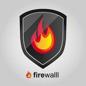 Firewall shield — Stock Vector