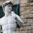 Michelangelo's sculpture of David in Florence, Italy — Stock Photo