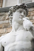 Close up of statue of David by Michelangelo, Florence — Stock Photo