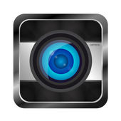 Color photo camera icon — Stock Vector