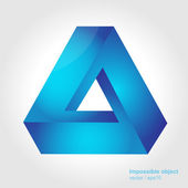 Abstract symbol, impossible object, triangle — Stock Vector
