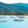View of Elba Island, Italy. With the sailboats — Stock Photo