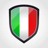 Shield with flag inside - Italy - vector — Stockvector
