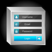 Vector login interface - username and password — Stock Vector