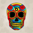 Sugar skull mexico, day of dead - Vector Illustration — Stock Vector