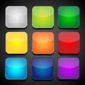 Set of color apps icons - background — Stock Vector