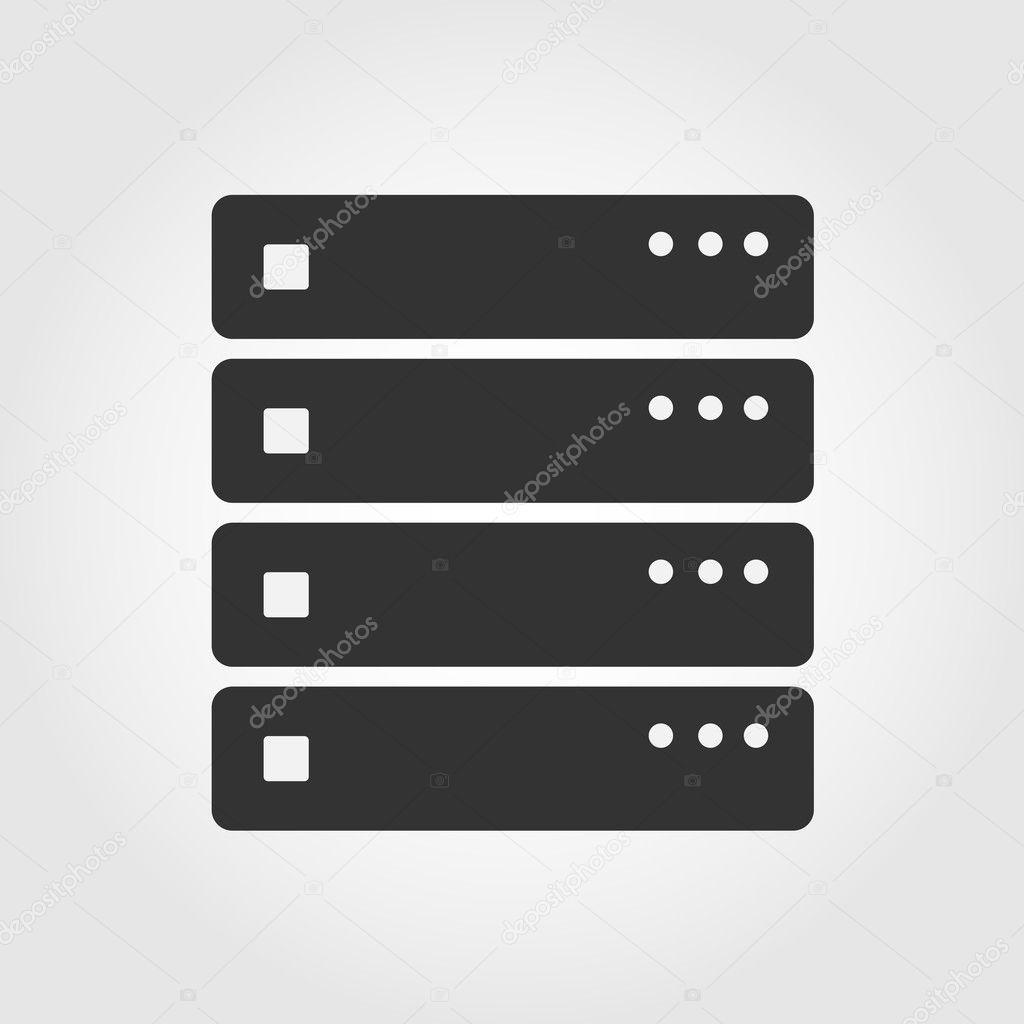 Computer Server Icon Computer Server Icon Flat