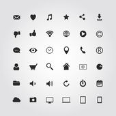 36 web media icons set. Vector illustration — Stock Vector