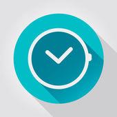 Time clock icon, flat design — Stock Vector