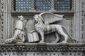 The doge of venice and lion — Stock Photo
