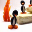 Olive penguins — Stock Photo