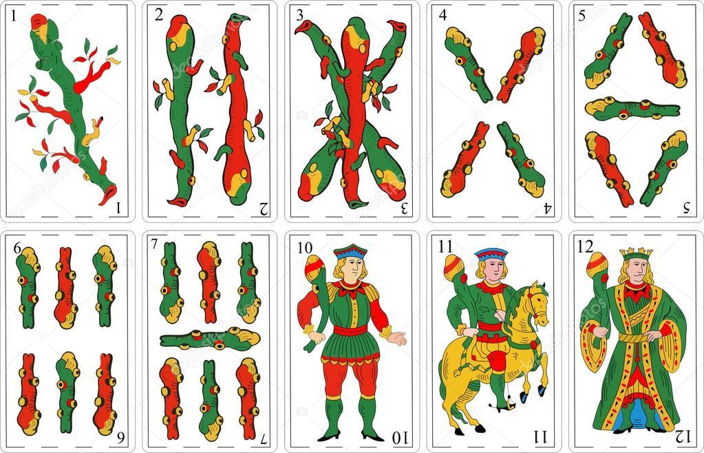 spanish decks vector
