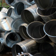 Steel pipeline — Stock Photo